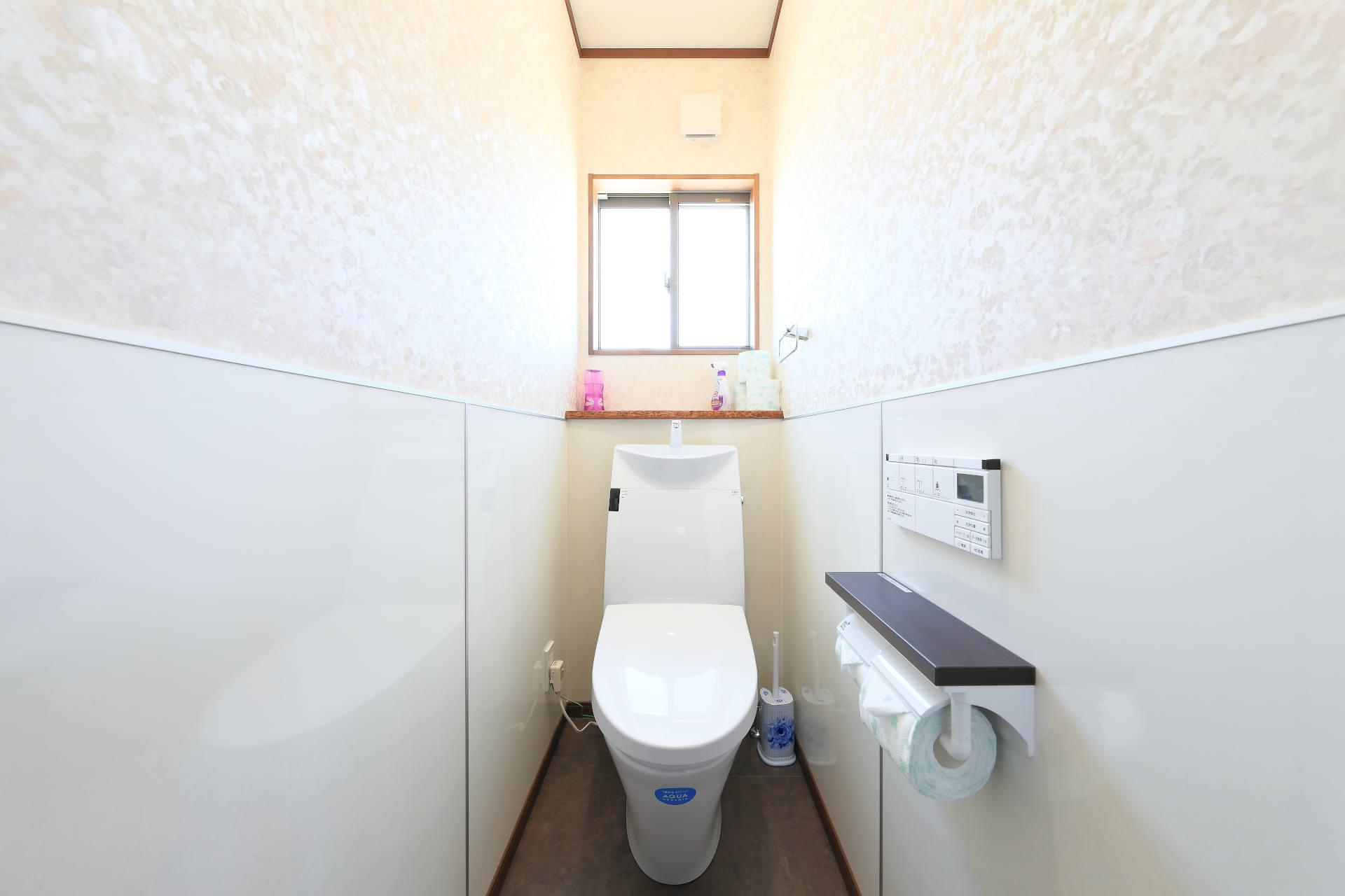 本新ショールームのトイレです